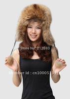 Wholesale Hats Wholes Sales - Wholesale-FREE SHIPPING* FINNRACCOON FUR CAP HAT* MIXED ORDER*WHOLE SALE & RETAIL* BE1205