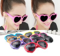 Wholesale Heart Shaped Sunglasses Candy - heart-shaped sunglasses candy colors for men and women, general sunglasses wholesale cute glasses for children dree shipping
