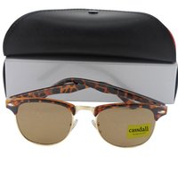 Wholesale Leopard Scratches - 10pcs Free Shipping High Quality Fashion cassdall Designer Sunglasses Sun Glasses For Mens Womens Leopard Frame Brown Glass Lenses With Box