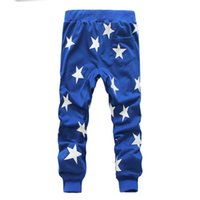 Wholesale dance clothing hop - Star Printing Mens Joggers Fashion Hip Hop Dance Loose Pants Sport Trousers Mens Designer Clothing