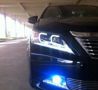 faros de toyota al por mayor-Toyota Camry 2012-2013 'llevó la luz delantera llevada de la cabeza de la lámpara principal con el tipo de C Angel Eyes lente doble para la venta