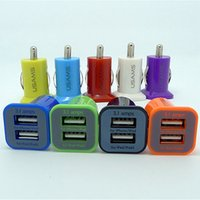 Wholesale Car 5v Tablet - USAMS 3.1A 3100mha Dual USB Car Charger 5V Dual 2 Port car Chargers for Iphone 4 4S 5 5S Samsung Galaxy S3 S4 S5 Note 2 3 Tablet PC PAD