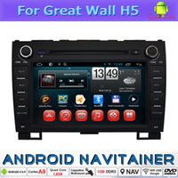 Wholesale Radio Great Wall - 2 Din Android Car DVD Gps Navigation Digital TV Quad Core for Great Wall H5 with Radio BT RDS SWC iPod