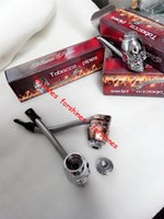 Wholesale Shipping Box Lid - 2pcs lot,Hot sale Skull Head style with lid and can twist metal smoking pipe,tobacco cigarette pipes gadget,free shipping to USA,Canada UK