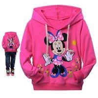 Wholesale Girl S Minnie - Retail Minnie Mouse girls hoodies sweatshirts spring autumn cartoon kids hooded coat long sleeve children t shirt baby girl costume 201507HX