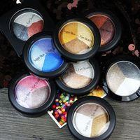 Wholesale Ice Cream Eye - Sugar Box Ice Cream Color Eye Shadow 3colors Diamond Pearl Shimmer Makeup Eye Shadow Charming Long-lasting Makeup 8styles