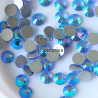 1440pcs SS3 (1.3-1.4mm) Light Sapphire AB Flat Back non Hotfix ongles Glitter Strass Verre