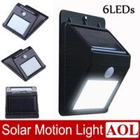 Wholesale Solar Powered Waterproof IP65 LED Outdoor Lighting Lamp PIR motion sensor and ray sensor White LED Street Light Wall Garden Lamp
