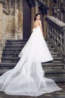 Wholesale Silk Organza Sweetheart Neck Wedding - simple clean mermaid wedding dresses 2017 detachable tulle train sweetheart satin wedding gowns high design bridal dresses