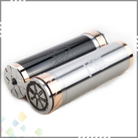 Wholesale Stainless Steel E Cigarette Battery - Full Mechanical Fat Snowwolf Snow Wolf 26650 Clone Battery Mod E Cigarette Black Stainless steel high quality DHL Free