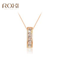 Wholesale Clear Crystal Cluster Necklace - ROXI Classic Permanent Solitaire Clear CZ Pendant Necklace,Top Quality Women Necklace,Best Gifts for Girlfriend 2016 hot