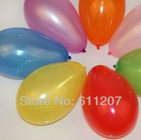 Wholesale Small Round Balloons - HOT 500pcs  lot small balloons Water polo round 100% latex apple balloon wedding party Toys Bomb multicolor