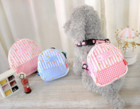 5PCS / LOT Atacado 15PT28 Traveling Pet Costumes Dog Clothing Dog Bag Dog Carrier Tote Bag Filhote de cachorro School Backpack Harness Outdoor