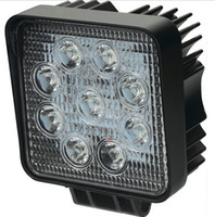 Wholesale Leds Suv - Automotive Work Lights 1800LM 27W High-power 9X 3W Bead LEDs Working Light Square Round Offroad LED Car Work Light Bar Rree Truck SUV