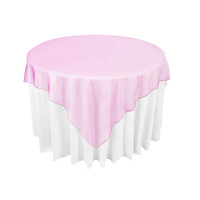 "Wholesale Pink Wedding Overlays - Fuchsia   Hot Pink Organza Table Overlay Cloth 72""X72"" Wedding Supply Party Sheer Colors New -OCL"
