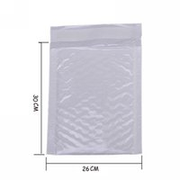 Wholesale padded envelope wholesale - Wholesale- 4X Kawaii Waterproof White Pearl Film Bubbel 26*30 Envelope Bulle Bag Mailer Padded Shipping Envelopes With Bubble Mailing Bags