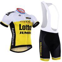 mayo bib lotto toptan satış-Lotto 2016 bisiklet jersey sarı bisiklet jersey bisiklet önlükler set kat jel jeli jel ücretsiz kargo
