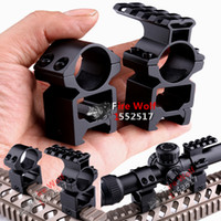Wholesale Extended Rail - Free shipping Huning 1'' 25.4mm Rings Scope Mount 20mm+Same Base extend Weaver Picatinny Rail 20mm 2in1