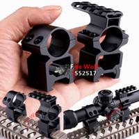 Wholesale Weaver Base Rings - Free shipping Huning 1'' 25.4mm Rings Scope Mount 20mm+Same Base extend Weaver Picatinny Rail 20mm 2in1
