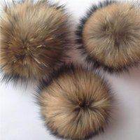 Faux Raccoon Fake Fur Hair Enorme Pelota Fluffy Pompom Hat Bag Shoses Accesorio