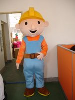 Wholesale Mascot Costume Bob - Wholesale-Professional bob the builder Mascot Fancy Dress Costume Adult Size EPE Suit mascot costume