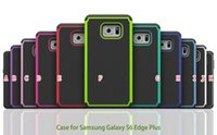 Wholesale Galaxy S Cases Dots - 2 in 1 Football Dot Rugged Case For Samsung Galaxy S6 S 6 Edge Plus Edge+ Fashion Hybrid Dual Color Hard Plastic Soft Silicone Cover Skin