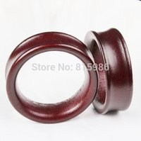 Wholesale Ear Plugs Body Jewelry Wood - 2015 new Wood ear plug flesh tunnel factory wholesales 70pcs body jewelry expander gauge strecher