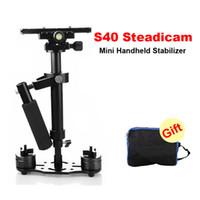 Wholesale Steadicam Dslr Stabilizer - DHL S40 40cm Professional Handheld Stabilizer Steadicam for Camcorder Digital Camera Video Canon Nikon Sony DSLR Mini Steadycam