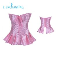 Wholesale Sexy Prom Underwear - Wholesale-Senchanting Free Shipping Latex Solid Satin Prom Corset Tops Bodyshaper underwear S-2XL Waist Training Corset Sexy Women Corset