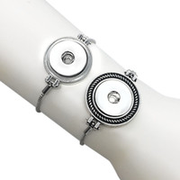 Wholesale Charm 225 - high quality 225 stretchable 18mm Snap Button Bracelet Interchangeable Charm Jewelry For Women Men