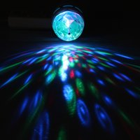 5pcs gros-GoesWell E27 3W étape de LED RGB Crystal Ball Effet magique Rotating Disco Party éclairage LED Lumières Wedding Party Chambre