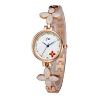 Wholesale flower bangle watches for sale - Fashion Design Hot Style Colors Luxury Bracelet Rhinestone Flower Watch Dial Quartz Wristwatch Bangle For Woman