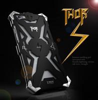 cajas del teléfono del tornillo al por mayor-De lujo de aluminio metal Thor Iron Screw a prueba de choques cubierta de parachoques para Samsung Galaxy Huwei teléfono celular iPhone 5 5S 6 6S Plus 4.7 5.5 pulgadas