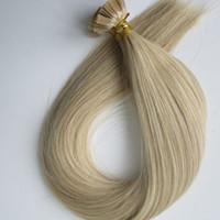 indische remy flache spitze keratin großhandel-150pcs 150g Pre verpfändete flache Spitze-Haar-Verlängerungen 18 20 22 24inch M27613 Brasilianische Inder Remy Keratin-Menschenhaar-Erweiterungen