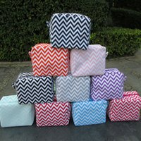 Wholesale Chevron Gift Bags - Microfiber Women Chevron Cosmetic Bags Toiletry Bag With Various Colors Great Gift for Her DOMIL106001