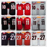 Wholesale Youth Football Jersey Black - Youth Georgia Bulldogs #11 Jake Fromm #10 Jacob Eason #27 Nick Chubb cheap Kids College Football Black Red White Stitched UGA Jerseys