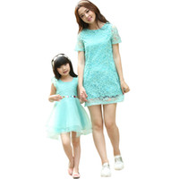 Wholesale mommy daughter clothing matching online - New Arrival Mother Daughter Matching Clothes Dresses Mommy And Me Clothes Family Clothing Sets Family Outfits Sundress