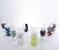 Wholesale Free Delivery Logo - New babby bottle glass bong mini water pipe oil rig oil dab headshop no logo free delivery