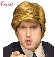 Wholesale Hair Clips Adults - Simulate Hair funny Donald Trump Wig Adult Costume Accessory Billionaire Hair Wig Candidate Fancy Hair Clips