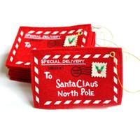 weihnachtsgeschenke großhandel-Weihnachts-Geschenk-Kartenhalter Geschenk-Karten-Box Candy Inhaber mit Umschlägen Weihnachtsgeld-Kartenhalter, Rot