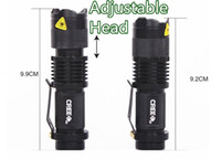 Wholesale Diving Flashing Lights - Qualified 5 Colors Flash Light 300LM CREE Q5 LED Camping Flashlight Torch Adjustable Focus Zoom waterproof flashlights Lamp H4846 H9504