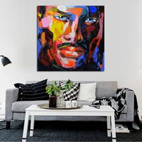 Wholesale Handsome Men Pictures - Hand painted Modern Knife Pictures On Canvas The Handsome Man Oil Painting For Room Decor Wall Painting Hang Craft