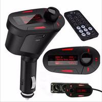 bluetooth remoto venda por atacado-Novo carro mp3 player kit bluetooth transmissor de fm modulador usb mmc lcd com venda quente remoto
