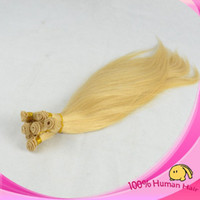 Wholesale Malaysian Hair Tied Weft - High Quality #613 Malaysian Virgin Hair Weft Natural Straight Hand Tied Weft In Human Hair No Shedding No Tangle