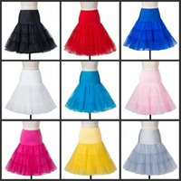 Wholesale free rockabilly online - Short Organza Petticoat Crinoline Vintage Wedding Bridal Petticoat for Wedding Dresses Underskirt Rockabilly Tutu Rock and Bal