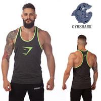 Wholesale Tank Top Gym Men Designs - Latest design men Gym singlets Professional gym stringer vest with Golds fitness & bodybuilding & workout tank tops gym street fit singlets
