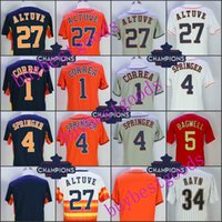 Wholesale Quick Drying - Men's 27 Jose Altuve 4 George Springer 1 Carlos Correa 35 Justin Verlander 34 Nolan Ryan 5 Jeff Bagwell Biggio Keuchel Champions Jerseys
