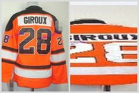 Wholesale Philadelphia Home Jersey - Youth Philadelphia Flyers Hockey Jerseys #28 Claude Giroux Jersey Home Orange Cheap Kids Claude Giroux Stitched Jersey C Patch