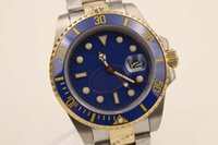 Wholesale Hot Sale Watches Men - hot sale men luxury brand blue 116613 ceramic bezel sapphire mechanical watches automatic with date two tone steel mens dress watches SB512