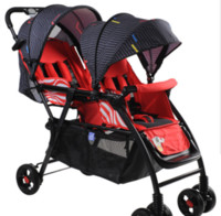 Wholesale Twins Baby Car - Hot baby stroller twin cart one button fold flat twin children's car twin children's bies stroller